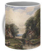 Shardlow Lock With The Lock Keepers Cottage Coffee Mug by James Orrock