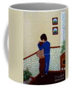 Sharing The Punishment Coffee Mug by Barbara Griffin