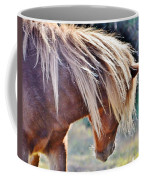 She Tossed Her Mane - Wild Pony Of Assateague Coffee Mug