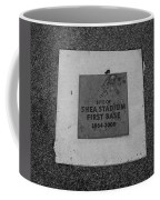Shea Stadium First Base In Black And White Coffee Mug