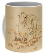 Sheep And Lambs Coffee Mug