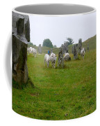Sheep And Stones At Avebury Coffee Mug