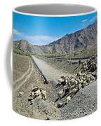 Sheep Crossing The Road To Shigatse-tibet  Coffee Mug