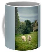 Sheep Grazing By Castle Coffee Mug