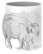 Sheep Pencil Drawing  Coffee Mug