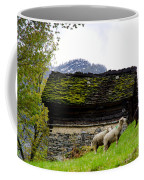 Sheeps And Rustic House Coffee Mug