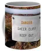 Sheer Cliff Warning Sign Coffee Mug