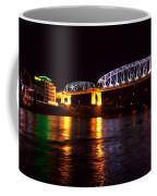 Shelby Street Bridge At Night Coffee Mug by Dan Sproul