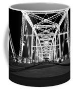 Shelby Street Bridge At Night In Nashville Coffee Mug