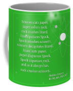Sheldon Cooper - Rock Paper Scissors Lizard And Spock Coffee Mug