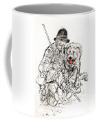 Shepherd With Dog Coffee Mug