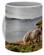 Shetland Pony At Shore  Shetland Coffee Mug