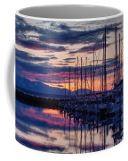 Shilshole Olympic Mountains Sunset Coffee Mug