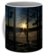 Shimmering In Gold And Sapphire Coffee Mug