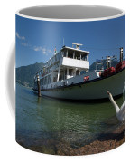 Ship And Swan Coffee Mug