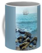 Ship At Sea Coffee Mug