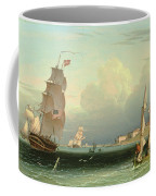 Ship Going Out, Fort Independence Coffee Mug