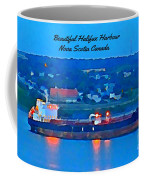 Ship In Beautiful Halifax Harbour Coffee Mug