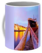 Ship In Harbor Coffee Mug