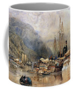 Shipping On The Hudson River Coffee Mug by Samuel Colman