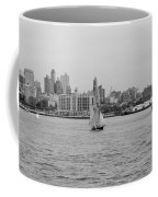 Ships And Boats In Black And White Coffee Mug