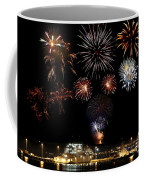 Ships And Fireworks Coffee Mug