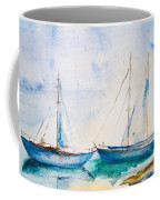 Ships In The Sea Coffee Mug