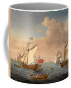 Ships In The Thames Estuary Near Sheerness Coffee Mug
