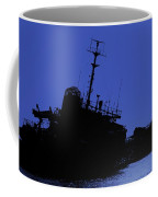 Shipwreck Of A Beached Diesel Tanker At Night Coffee Mug