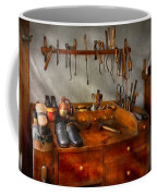 Shoemaker - The Cobblers Shop Coffee Mug by Mike Savad