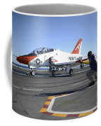 Shooter Signals To The Pilot Of A T-45c Coffee Mug