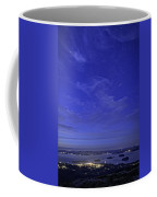 Shooting Star Over Bar Harbor Coffee Mug