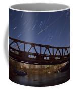 Shooting Star Over Bridge Coffee Mug