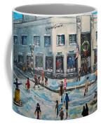 Shopping At Grover Cronin Coffee Mug by Rita Brown