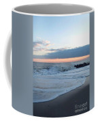 Shoreline  And Waves At Cape May Coffee Mug