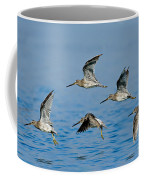 Short-billed Dowitchers In Flight Coffee Mug