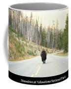 Showdown At Yellowstone Coffee Mug