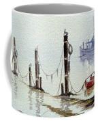 Shrimp Boat With Evening Lights Coffee Mug