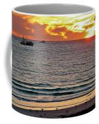 Shrimp Boats And Gulls Over Sea Of Cortez At Sunset From Playa Bonita Beach-mexico Coffee Mug