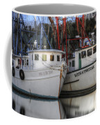 Shrimp Boats Reflecting Coffee Mug