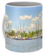 Shrimp Boats In Georgetown Sc Coffee Mug