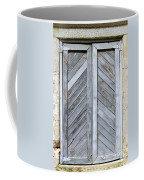 Weathered Wooden Shutters Coffee Mug