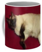 Siamese Expressive Brushstrokes Coffee Mug