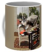 Funny Pet A Wine Bibbing Kitty  Coffee Mug