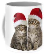 Siberian Kittens In Hats Coffee Mug