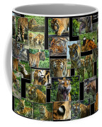Siberian Tiger Collage Coffee Mug