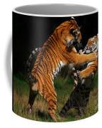Siberian Tigers In Fight Coffee Mug