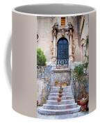Sicilian Village Steps And Door Coffee Mug by David Smith