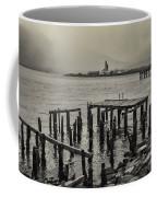Siglufjordur Old Pier Black And White Coffee Mug