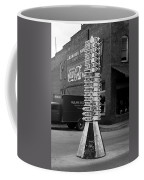 Sign Post In Crossville Tennessee 1939 Coffee Mug